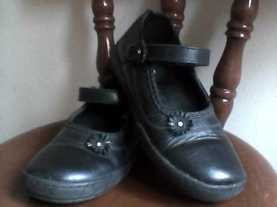Zapatos Pocholin De Niña Colegiales Talla 28 Usados