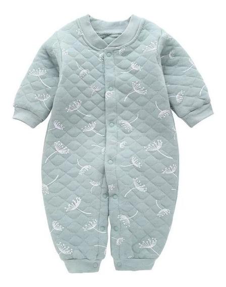 Macacão Inverno Bebê Matelassê Erva Doce