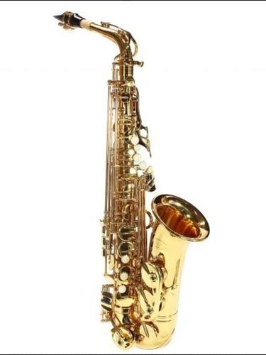 Saxofone Alto Jahnke Mib Dourado Com Chaves Niqueladas - Instrumento Novo Com Garantia Top