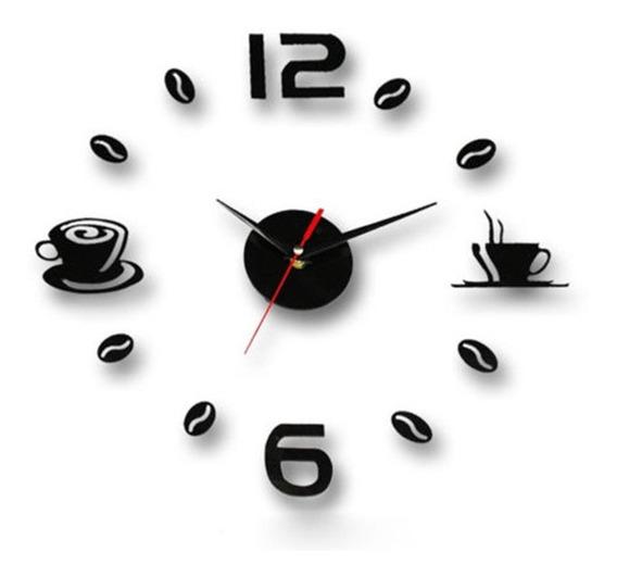 Reloj De Pared Estilo Minimalista Taza D Cafe Hazlo Tu Mismo