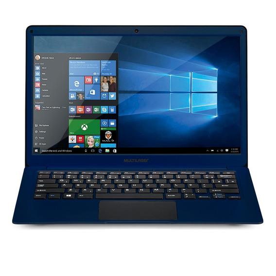 Notebook 13.3 Pol. 4gb/32gb/celeron/windows - Azul - Pc207