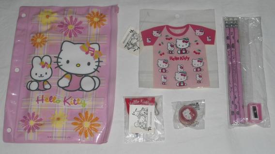 Hello Kitty Estojo Escolar 25cm C/vários Extras Sanrio 2002