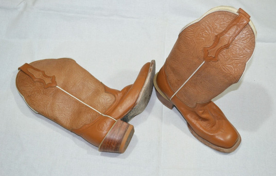 Botas Vaqueras De Dama Talla 26cm Camel