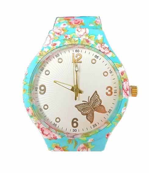 Relógio Colorido Floral Tendencia Para Mulher Luxuoso Barato
