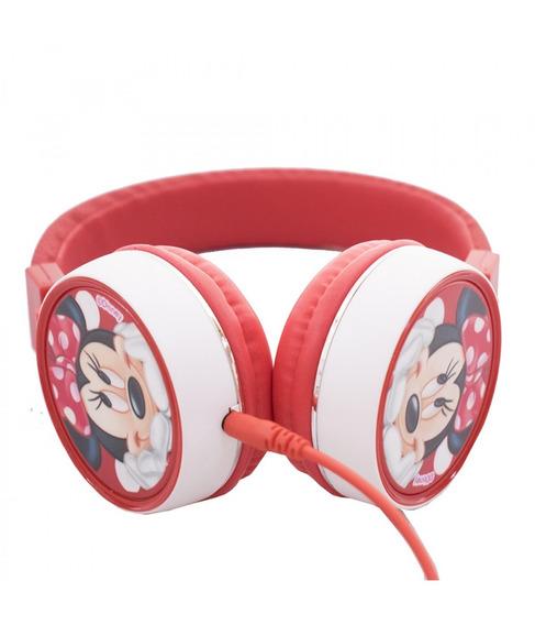 Fone De Ouvido Supra Auricular Minnie - Disney - Vermelho