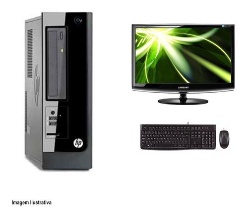 Imagem 1 de 4 de Computador Desktop Hp Pro 3410 I5 4gb 240ssd Monitor 17