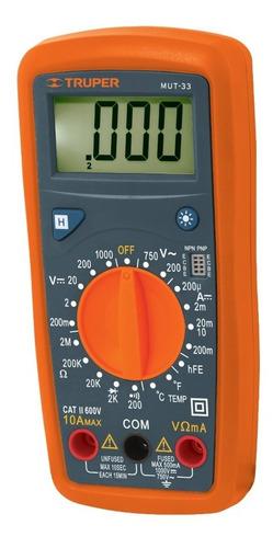 Imagen 1 de 10 de Multimetro Digital Prof. 500 V Truper 10401