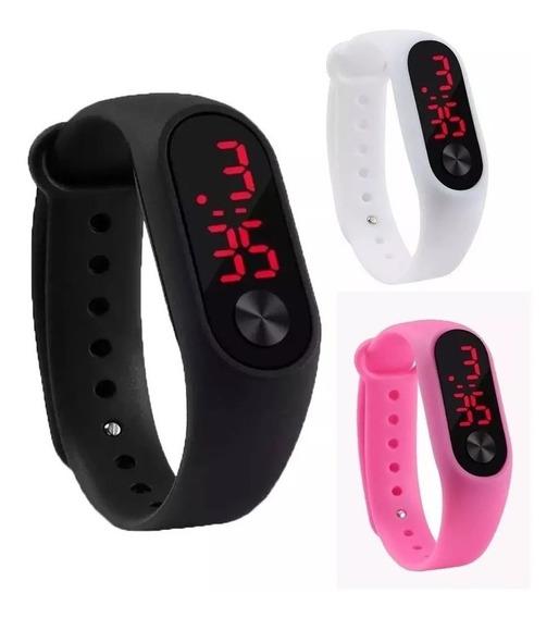 Relógio Bracelete Esportivo Digital Unissex Led Promoção !!!