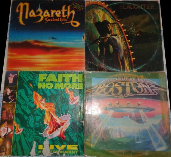 4 Lps Hard Rock- Nazareth, Boston, Faith No More
