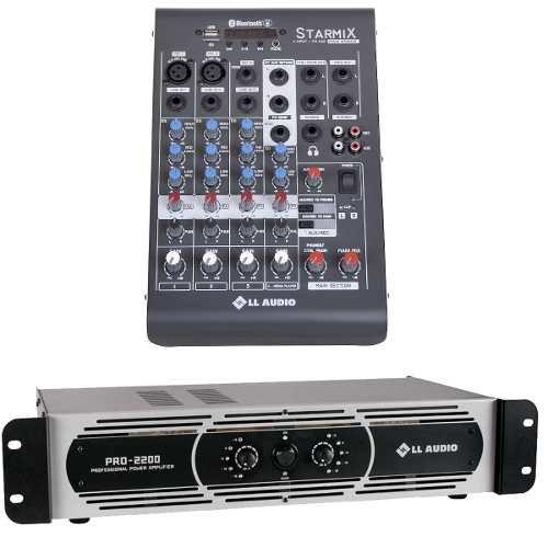Mesa Som 4 Canais Xms402 + Potência Pro 2200 550w Rms Nca