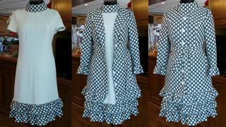 Lilli Ann Traje Años 60 Retro Vintage Unico Abrigo Vestido S