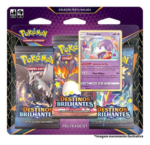 Card Game Pokémon Blister Destinos Brilhantes Polteageist
