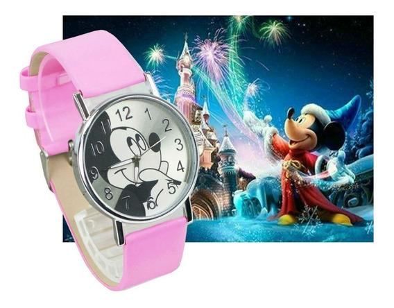 Relógio De Pulso Mickey Mouse Menina Criança Adolescente 102