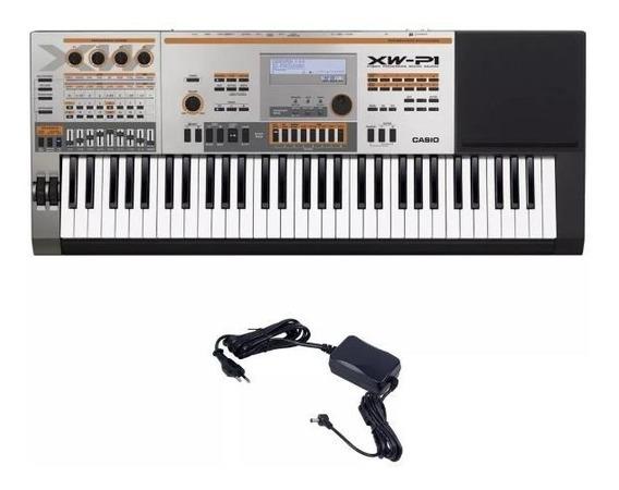 Teclado Musical Sintetizador Casio Xw P1 Com Fonte Profissional