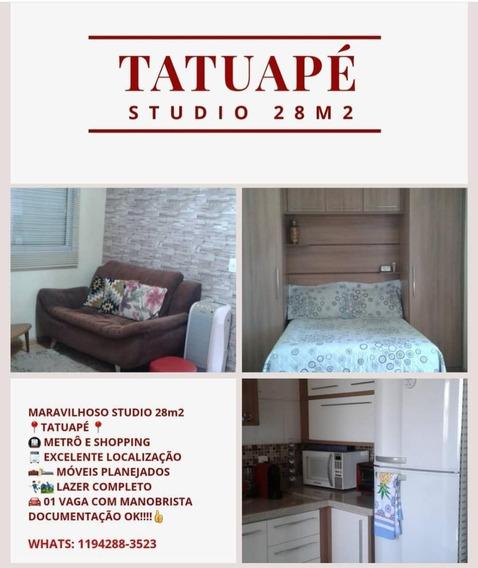Apartamento Studio 28m² Tatuapé 01dorm/01 Vaga