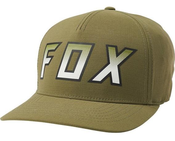 Gorra Fox Transfer Flexfit Verde Mtb Moto Cachucha Bmx Bici