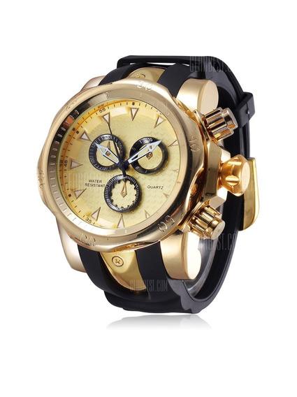 Relógio Quartz Masculino Golden