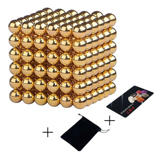 Neocube 216 Esferas 5mm El Original Caja Metal - Dorado