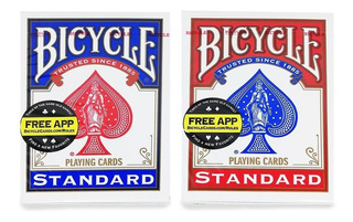 Cartas Bicycle Standard Par 2 Mazos Magia Poker Envio Gratis