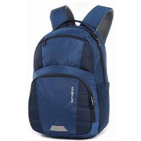 Mochila Para Notebook I.o P/tablet Gd 4bolsos Azul Samsonite