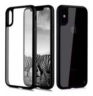 Capa Bumper iPhone Xr X Xs Xs Max Transparente Preta