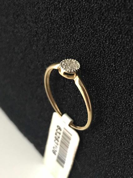 Anel De Ouro 18k Feminino Com Pedras Preciosas