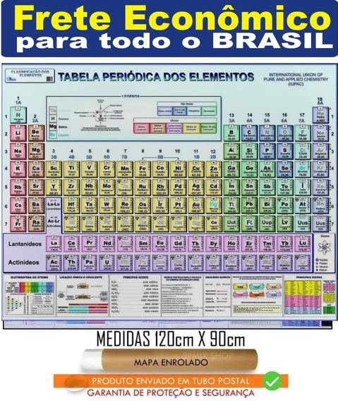 Mapa Tabela Periódica 120 X 90 Cm Elemento - Frete Barato