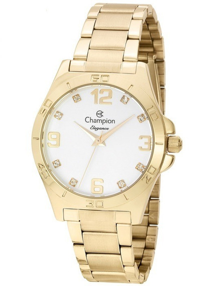 Relógio Champion Feminino Elegance Cn28446w C/ Nota