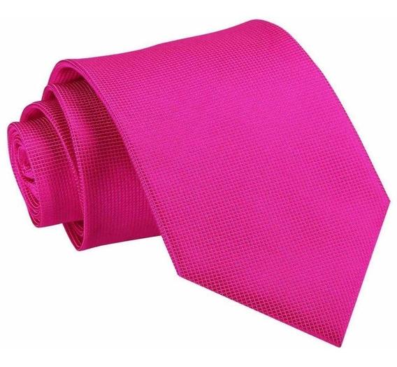 Corbata Tono Fucsia | Textura Microcuadros
