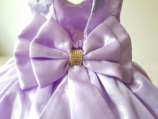 Vestido Infantil Princesa Sofia Festa Luxo