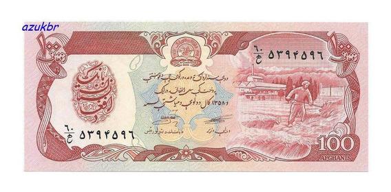 * Afghanistan Afeganistao 100 Afghanis Ah1358 (1979) P58 Fe*