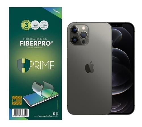 Imagem 1 de 5 de Pelicula Hprime Fiberpro 9h P/ iPhone 12 E 12 Pro 6.1 Pol