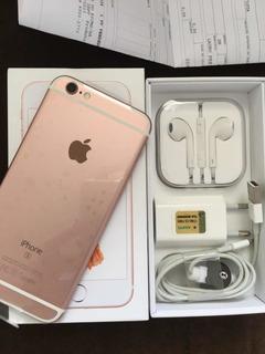 iPhone 6s 32gb Rose Gold- Garantia Apple Até Maio 2020