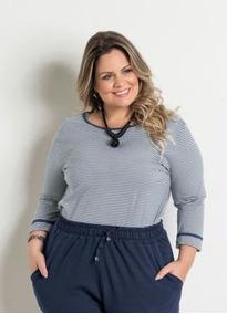 16289a4ab Blusas Femininas Marguerite Plus Size - Calçados