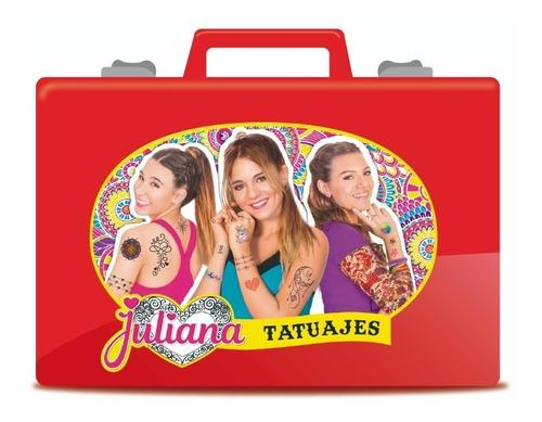 Valija Juliana Tatuajes Con Accesorios Grande Original