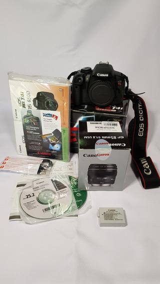 Camera T4i Canon Com Super Lente 85mm +tripe E Acessorios