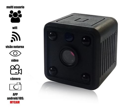 Imagem 1 de 5 de Mini Câmera Espiã Wi-fi Bateria Hd 1080p Sem Fio Mycam