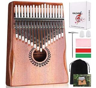 Kalimba 17 Keys Thumb Piano, Facil De Aprender. Regalos Para