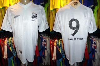 Santos 2002 Camisa Titular Tamanho G Número 9.