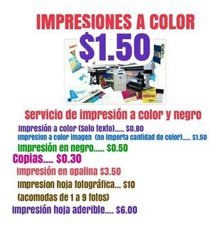 Servicio De Impresiones A Color