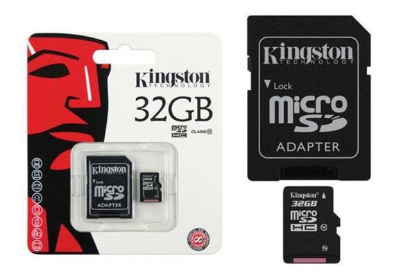 Cartão Memória Micro Sd 32gb Lacrado Original Kingston