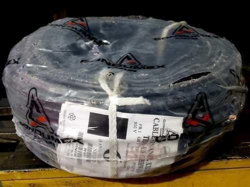 Cable Condumex Cal 6 Unipolar Color Negro Rollo 100mt Cobre