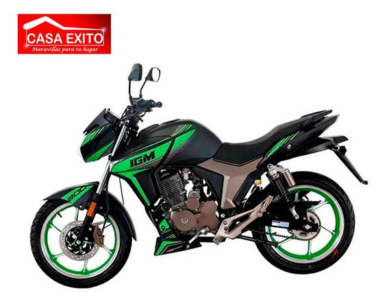 Moto Igm Wind 200cc Año 2019 Color Ne/ Ro/ Ve