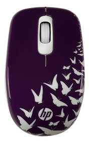 Mouse Wireless Hp Butterfly Z3600 Lilás