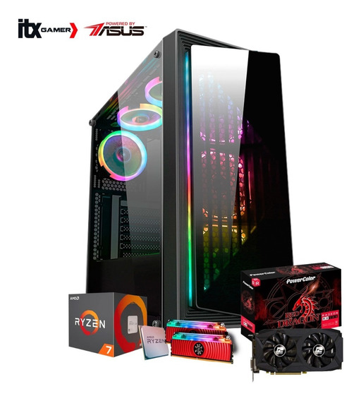 Pc Gamer Powered By Asus Ryzen 7 2700 /rx 580 8gb /1tb + M.2