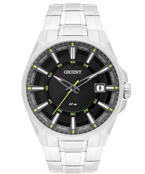 Relógio Orient Analógico Masculino Preto/prata Mbss1313 Pfsx