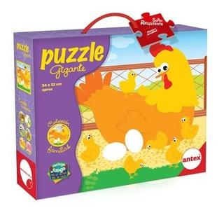 Puzzle 9 P Familia Gallinas Gigante Rompecabezas Antex Niños
