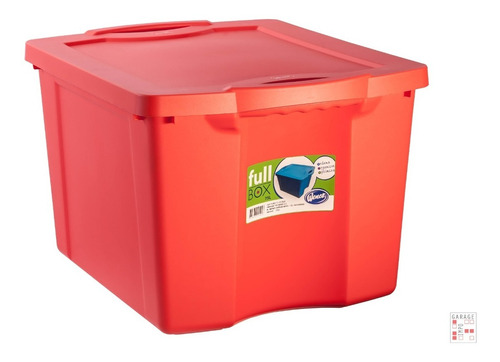 Caja Organizadora Plastico Rojo 75 Lts Wenco - Garageimpo