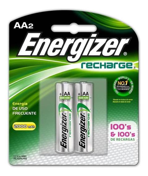 Pila Energizer Recargable Aa C/2 2000mah Nh15bp-2