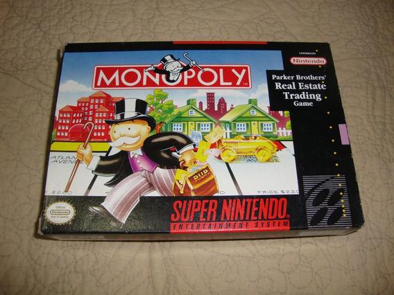 Monopoly Americana Completa Para Super Nintendo